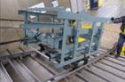階段運搬鉄骨レール敷設